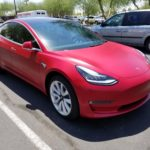 Red Tesla Side Clear Bra Mesa AZ