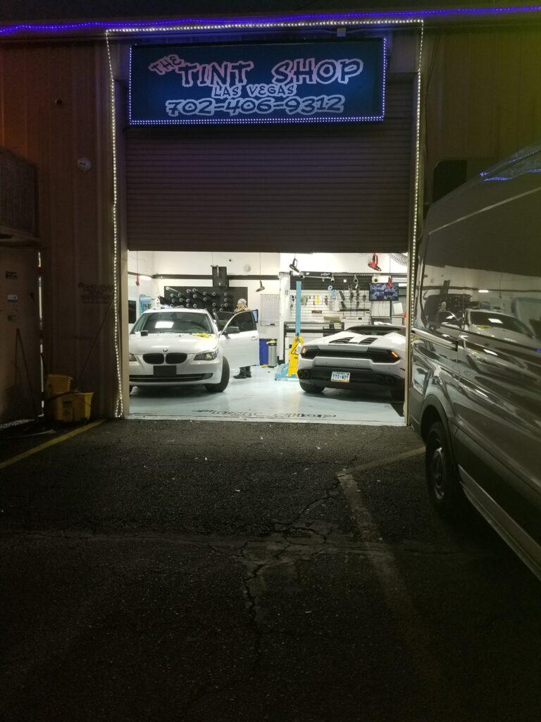 back garage at night